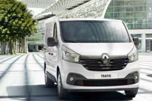 Renault Trafic Business L2 H1 LL30 ENERGY DCi 120BHP Panel Van in White with Satellite Navigation, Air Conditioning and Rear Parking Sensors