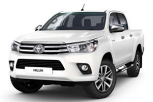 Toyota Hilux Invincible X Double Cab 2.4L D-4D 150BHP Euro 6 Manual in White with Sport Deck, Hi-Over Bar, Aluminium Roller Cover and Bed Liner