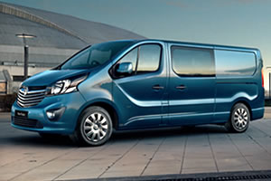 Vauxhall Vivaro Double Cab Sportive L2 H1 2900 1.6 CDTi 16v BiTurbo 125PS Start/Stop Euro 6 BlueInjection in Metallic Silver - Pre Reg 18 Plate